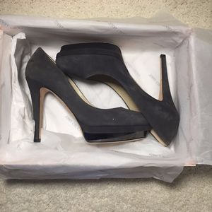 Jimmy Choo Shoes - JIMMY CHOO SUEDE SMOKE/BRONZE PUMPS